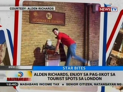BT: Alden Richards, enjoy sa pag-iikot sa tourist spots sa London
