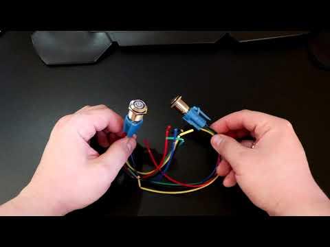 Кнопки с фиксацией и подсветкой 220в