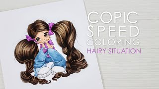 Copic Speed Coloring: Hairy Situation