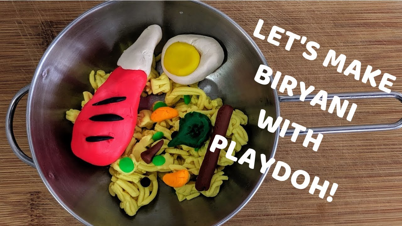 Learn How to Make BIRYANI with Playdoh! | South Asian Crafts for Kids