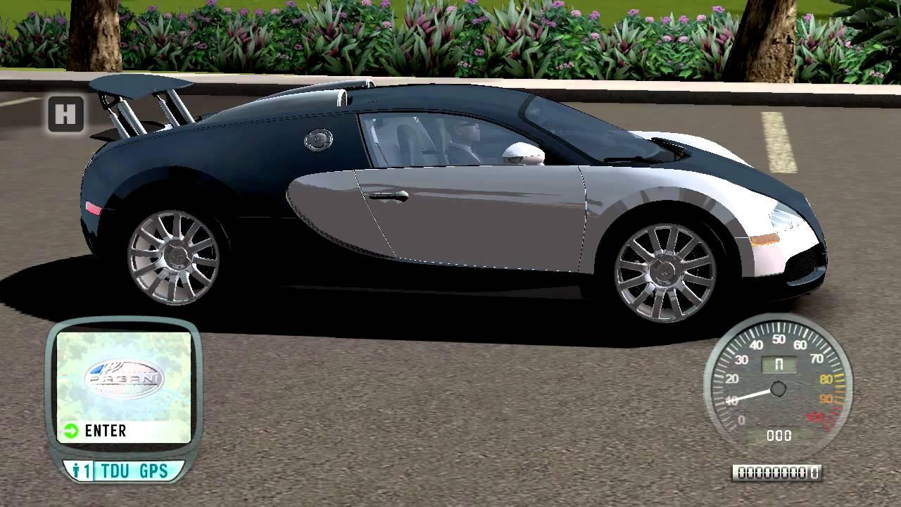 test drive unlimited bugatti veyron moving spoiler mod. Black Bedroom Furniture Sets. Home Design Ideas