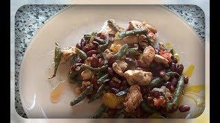 Куриная грудка с овощами.  Легкий ужин