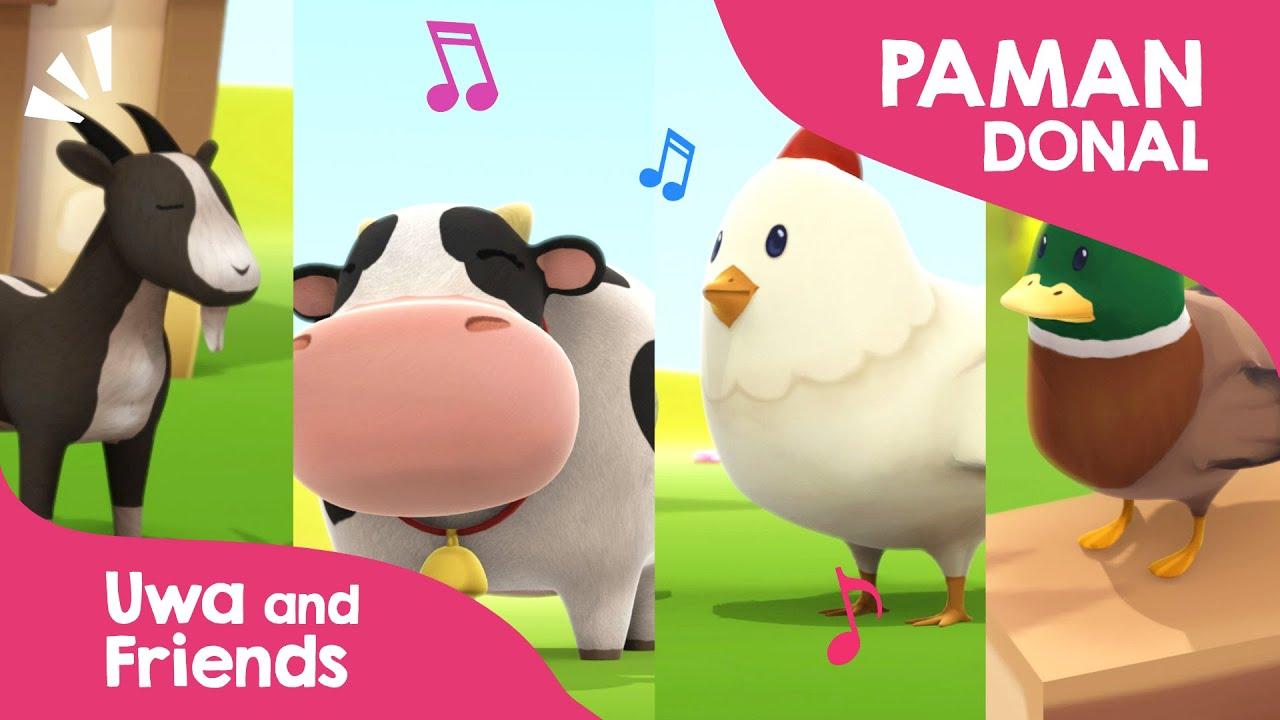 Peternakan Paman Donald  - Lagu Anak Indonesia - Belajar Suara Hewan Ternak