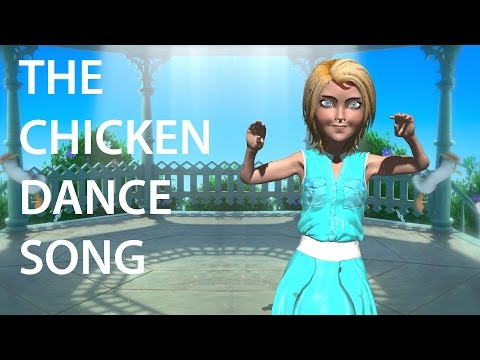 Chicken Dance Song Animated Kids Video Learn The Chicken Dance