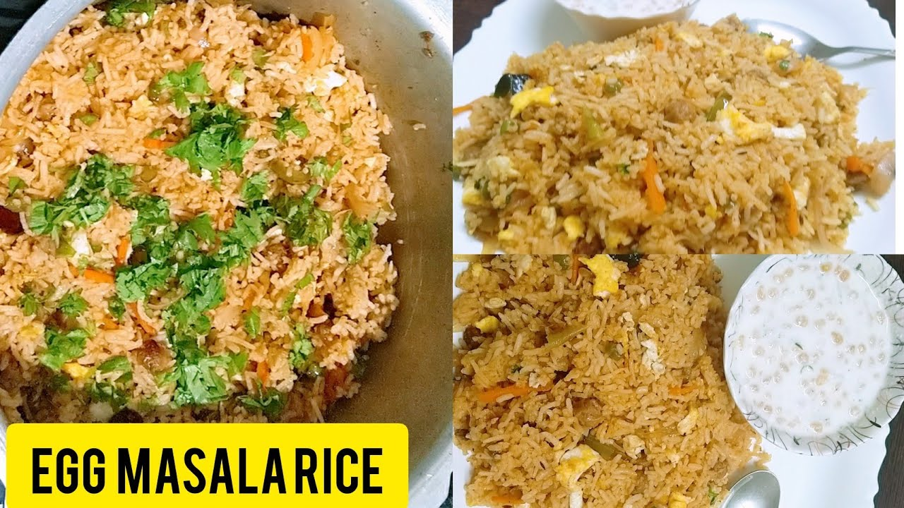 Egg masala rice recipe |  how to make egg masala rice quick and easy