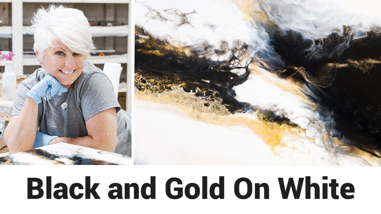 Black and Gold On White Finish: using Stone Coat Epoxy Craft Coat