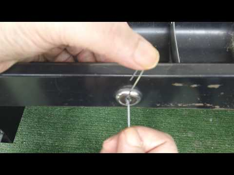 How To Pick Open A Desk Drawer Lock With Paper Clips Youtube
