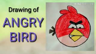 Drawing Of ANGRY BIRD In Easy Way|Angry Bird Cartoon Drawing|How To Draw Angry Bird With Colors