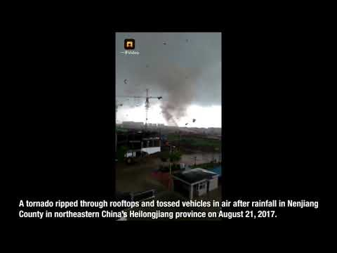 Horrific footage shows tornado ripping through county in northeast China's Heilongjiang