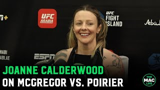 "Joanne Calderwood: ""I'm with Conor McGregor on this one""; Jokes she'll help him if he sees Khabib"