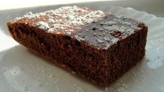 Crazy cake - шоколадный бисквит без яиц и масла