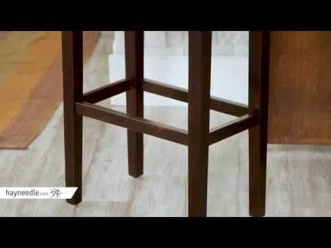 Palazzo 32 in. Saddle Stool – Grey – Product Review Video