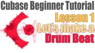Cubase 8 Beginner Lesson 1 - Let's Make Some Beats!