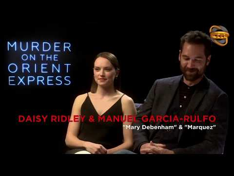 Daisy Ridley & Manuel Garcia Rulfo Interview for Murder on the Orient Express (2017)