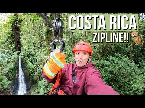 COSTA RICA TRAVEL VLOG PT. 3 (Amazing Waterfall Zip Line)