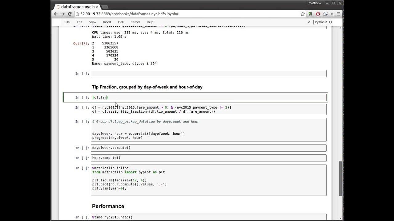 Dask DataFrames on HDFS Cluster