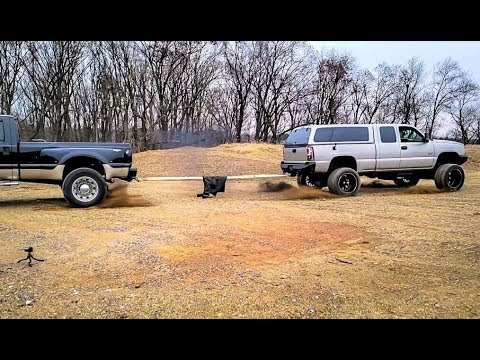 Ford F450 Dually VS The DURAMAX TUG OF WAR!!! David VS Goliath...