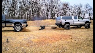 Ford F450 Dually VS The DURAMAX TUG OF WAR!!! David VS Goliath...