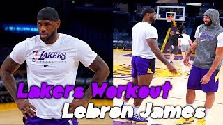 Lakers LeBron James Workout with Phil Handy