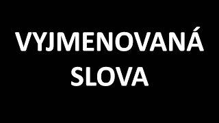 ČESKÝ JAZYK - VYJMENOVANÁ SLOVA - verze 1.2