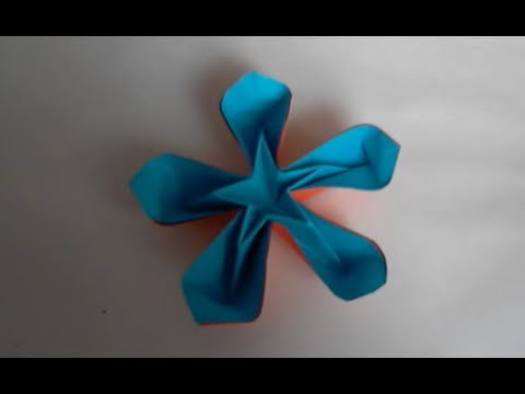 origami fleur coeur d 39 etoile youtube. Black Bedroom Furniture Sets. Home Design Ideas