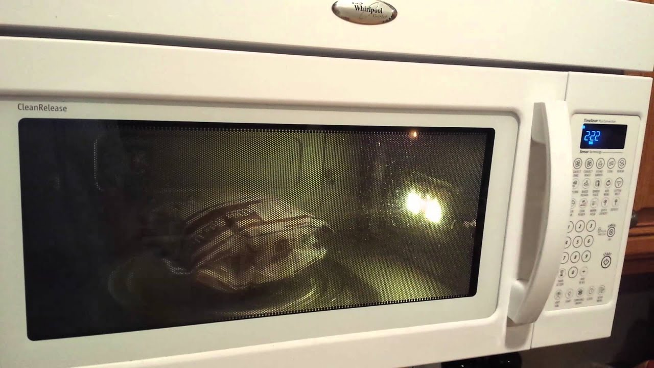 Popcorn in a newer whirlpool microwave  YouTube