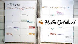 October Calendar Overview   Bills + Paychecks