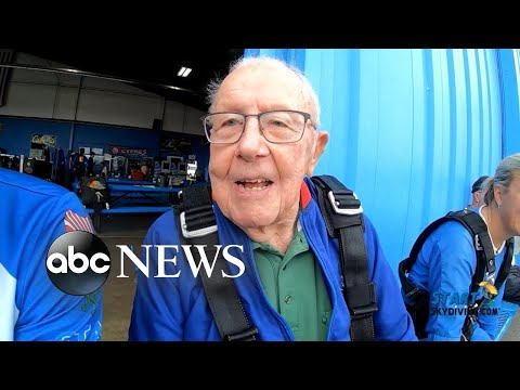 Jess C - 94 yr Old Grandfather Goes Skydiving To Honor Late Wife