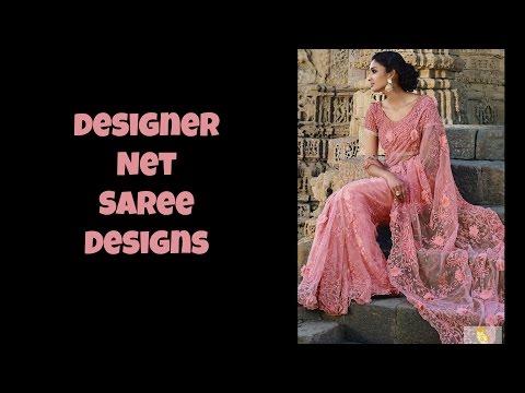 Designer Net Saree Designs