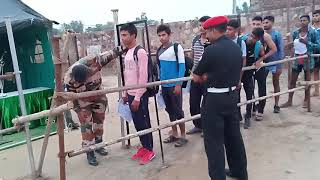 #Armybhartirally#भरतपुर आर्मी भर्ती रैली, दौड़ से पहले लम्बाई में फेल हुए युवा