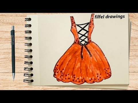 Draw An Easy Dress Graphic Design Dresses رسم فستان سهل رسم تصميم
