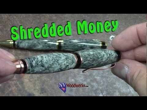 Resin Casting Shredded Money in Alumilite | Dunkin Junk