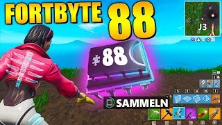 Fortnite Fortbyte 88 🗺️ Map Square J3 | All Fortbyte Places Season 9 Utopia Skin English