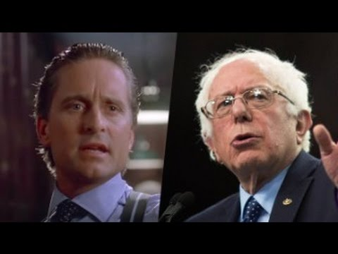 Inspiration for Gordon Gekko Endorses Bernie Sanders
