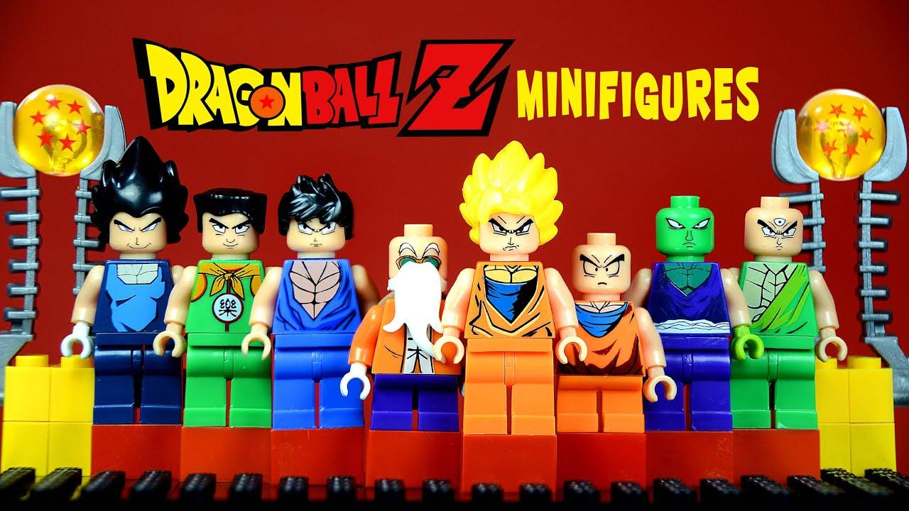 Minifigures w son goku master roshi krillin amp piccolo youtube