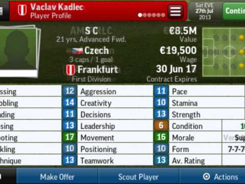 Football Manager 2014 IOS - Young Players (Wonderkids)