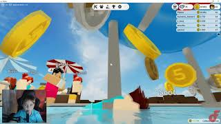 We build our own water park!!! ROBLOX WATER PARK WORLD (BETA) EP. 1
