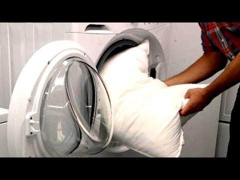 Как правильно стирать пуховые подушки в стиральной машине
