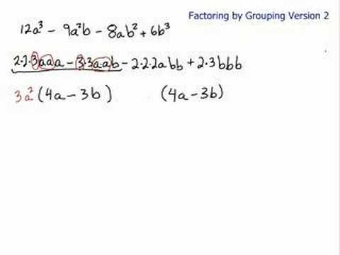 Factor by Grouping - Prime Factorization - YouTube