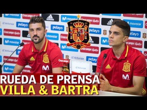 Rueda de prensa de Villa y Bartra con España | Diario AS