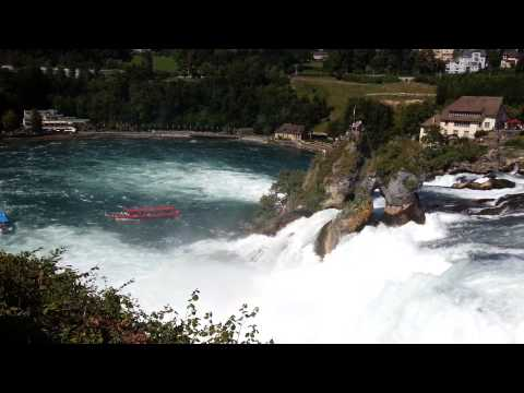Rhine Falls From Laufen Castle in Switzerland