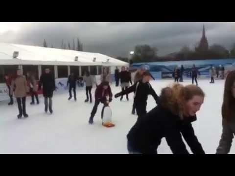 Ice skating, Cambridge UK, Dec. 2012