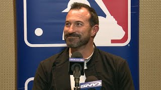 Newly named mets manager mickey callaway discusses his plans for the offseason and expectations 2018 seasoncheck out http://mlb.com/video mor...