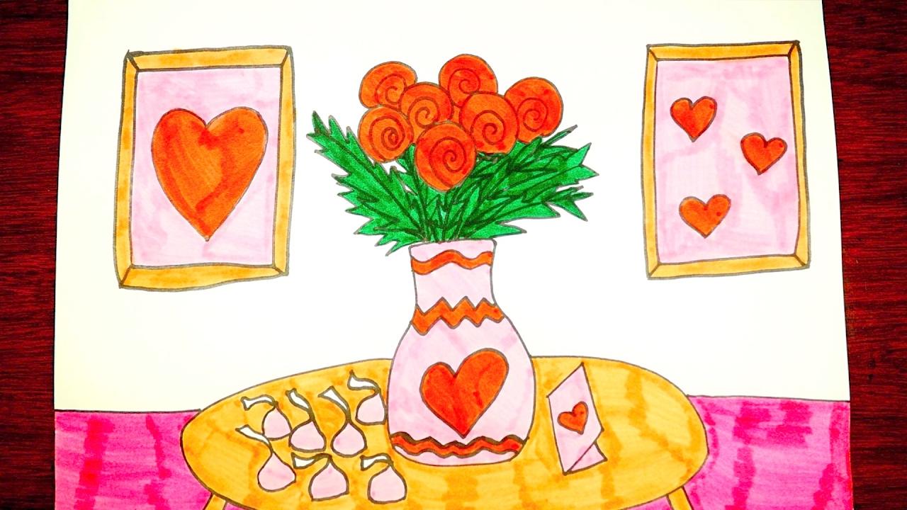 How To Draw Valentine's Day Stuff - YouTube