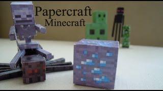 Mis bloques  y mobs de papercraft de Minecraft