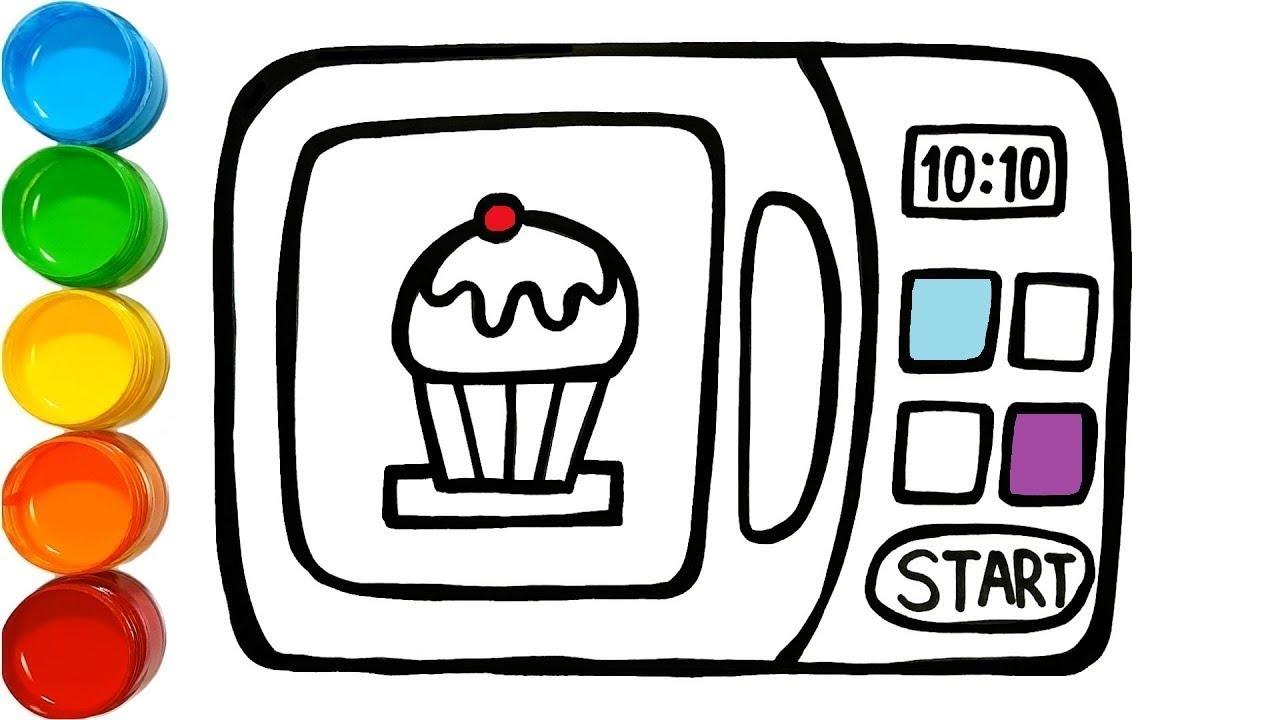 Microondas Para Colorir E Desenhar Microwave Coloring And Draw