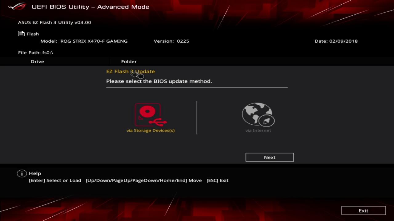 Asus ROG Strix X470-F Gaming UEFI