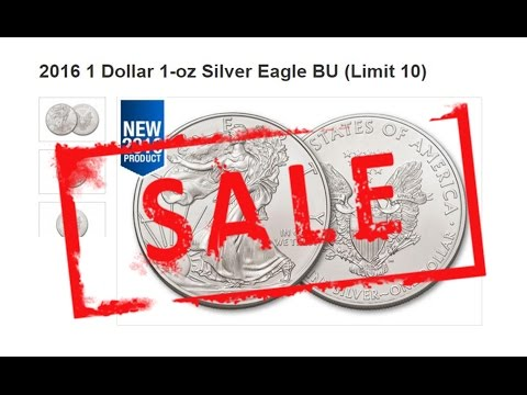 2016 Silver Eagles For Less Than $1 Over Spot!