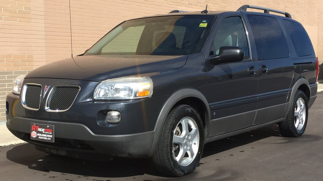 2008 Pontiac Montana Sv6 Extended Wheelbase Alloy