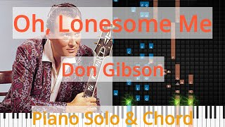 🎹Solo & Chord, Oh, Lonesome Me, Don Gibson, Synthesia Piano